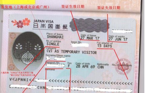 上海领区日本单次签证办理详细流程