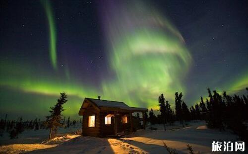 去阿拉斯加看极光住哪里
